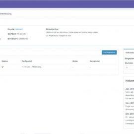Screenshot-Aufträge und Einsätze - Profil